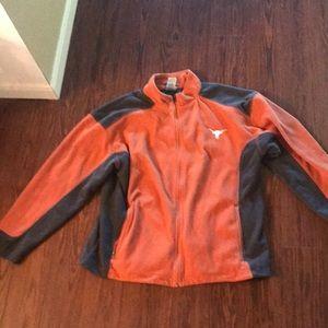 University of Texas burntorange&gray fleece jacket
